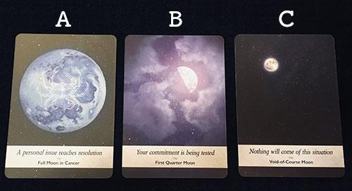 3枚のカードから貴方が選んだオラクルカードはどれですか?